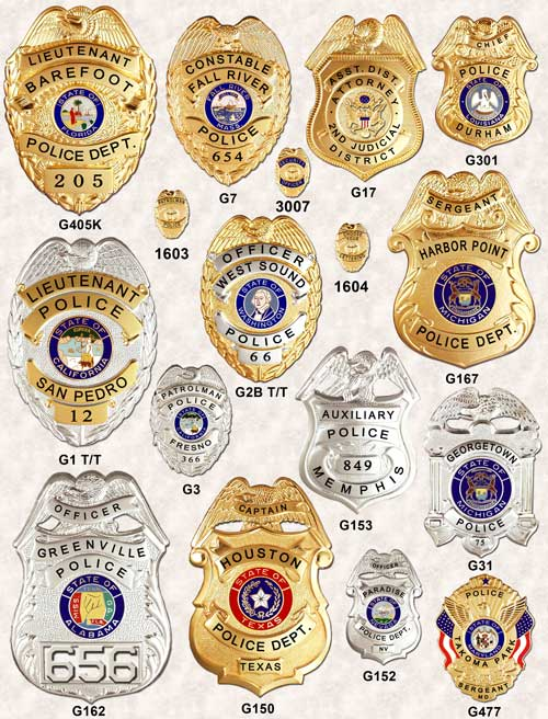 Police Badges Eagle top GA-REL page 2 GAREL