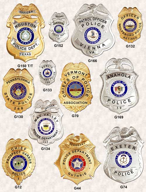 Police Badges Eagle top GA-REL page 3 GAREL