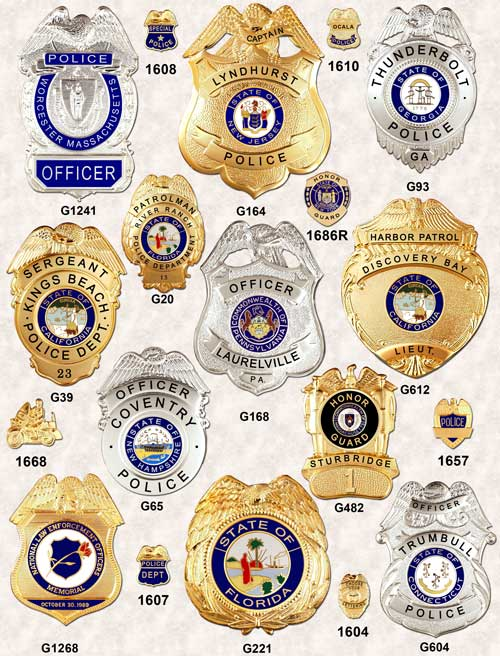 Police Badges Eagle top GA-REL page 6 GAREL