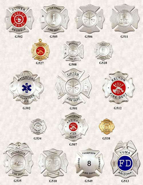 Fire Department Badges 2 GAREL