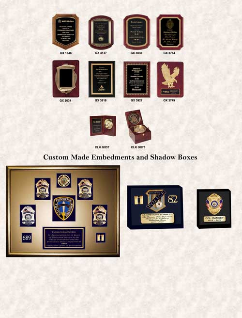 GA-REL Plaques, Embedments and Shadow Boxes GAREL