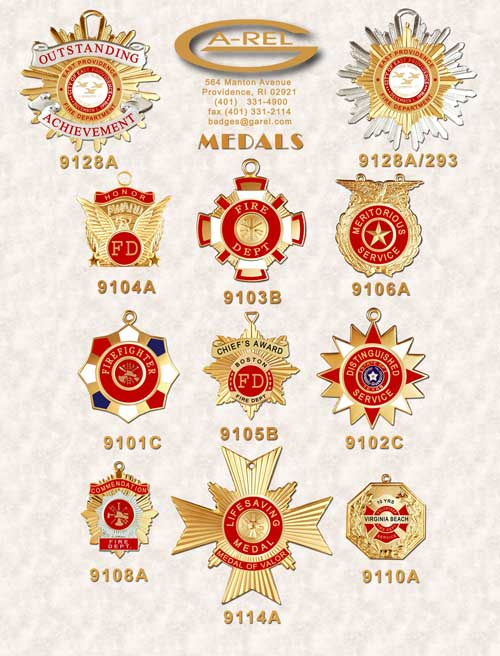 fire department medals awards