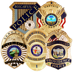 police badge montage